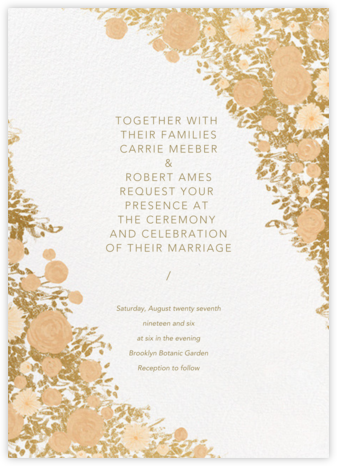 Centifolia (Invitation) - Gold - Paperless Post - Wedding Invitations