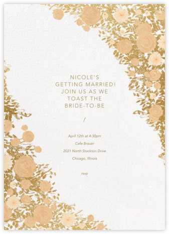 Centifolia - Gold - Paperless Post - Bridal shower invitations