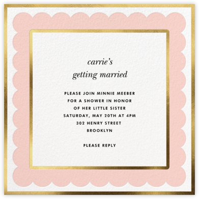 Scalloped Border - Pavlova - kate spade new york - Kate Spade invitations, save the dates, and cards
