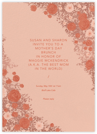 Centifolia - Rose Gold - Paperless Post - Online Mother's Day invitations