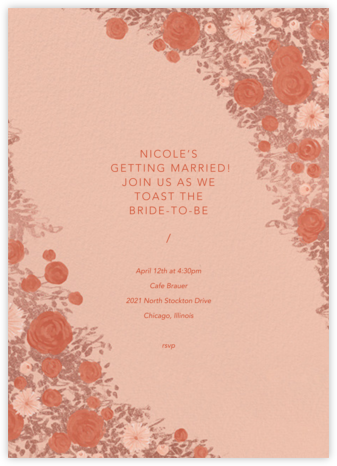 Centifolia - Rose Gold - Paperless Post - Bridal shower invitations