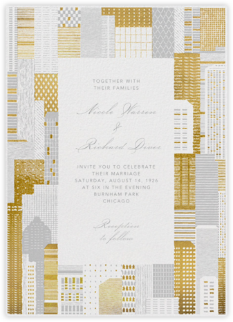 Lever House (Invitation) - Gold  - Paperless Post - Wedding Invitations