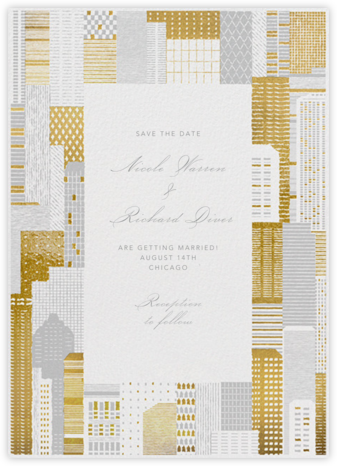 Lever House - Gold - Paperless Post - Save the dates