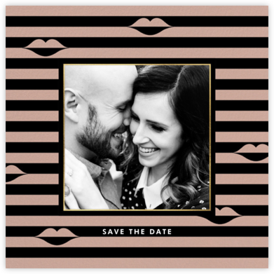Sealed Lips Photo - Black - kate spade new york - Save the dates