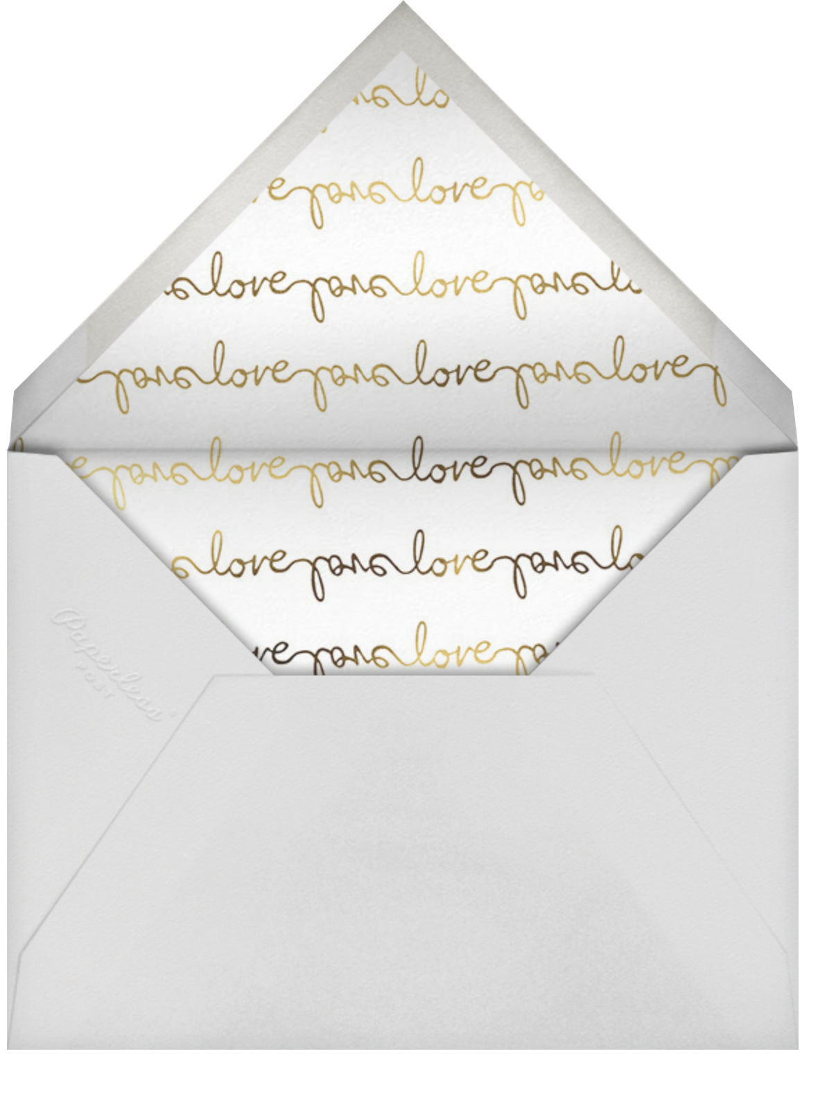 Third's a Charm - Lilac - kate spade new york - Engagement party - envelope back