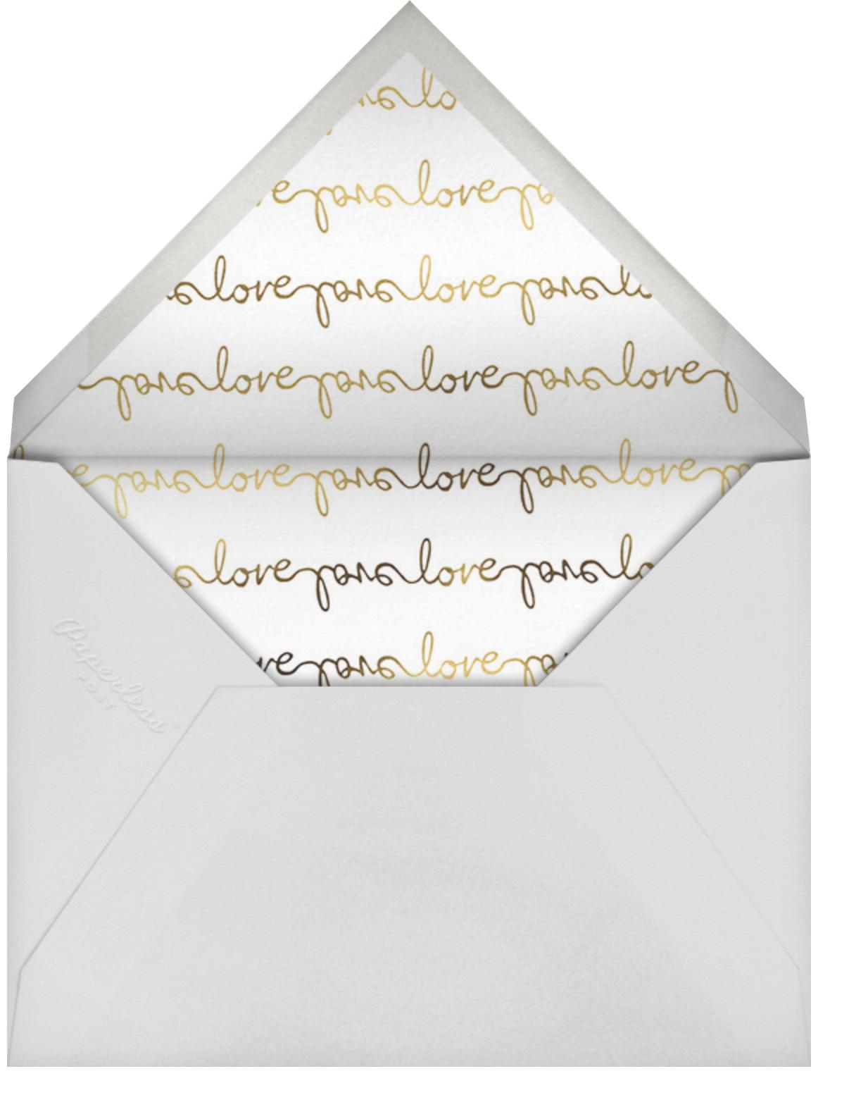Third's a Charm - Pavlova - kate spade new york - Engagement party - envelope back