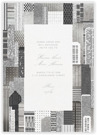 Lever House - Silver - Paperless Post - Housewarming party invitations