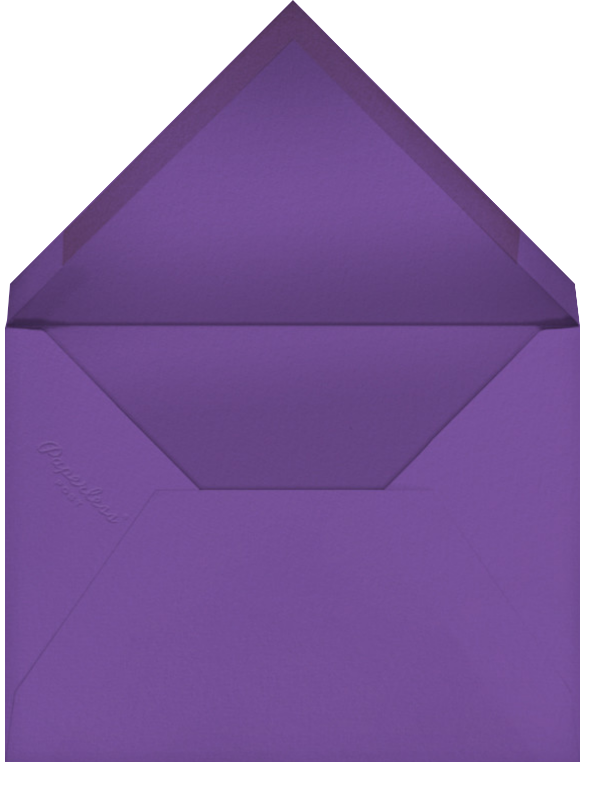 Cadogan Purple Square - Paperless Post - Adult birthday - envelope back