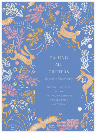 Folk Tails - Antwerp - Anthropologie - Birthday invitations