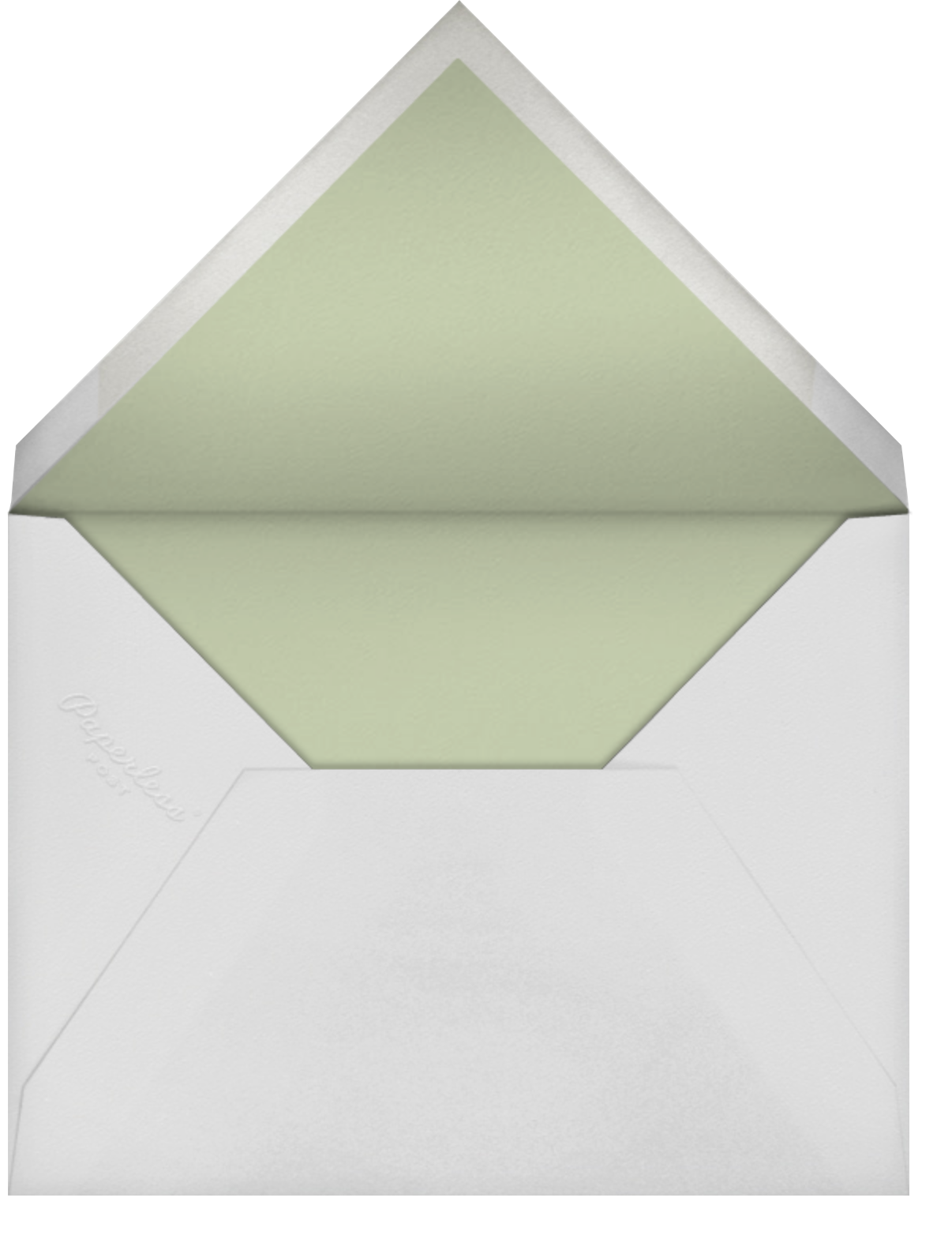 Folk Tails - Cream - Anthropologie - Baby shower - envelope back