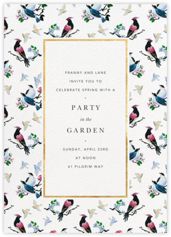 Of a Feather - Anthropologie - Anthropologie Invitations