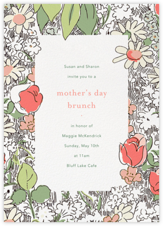 Petit Jardin - Coral - Anthropologie - Online Mother's Day invitations
