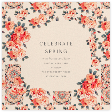 Rose Chintz - Anthropologie - Online Party Invitations