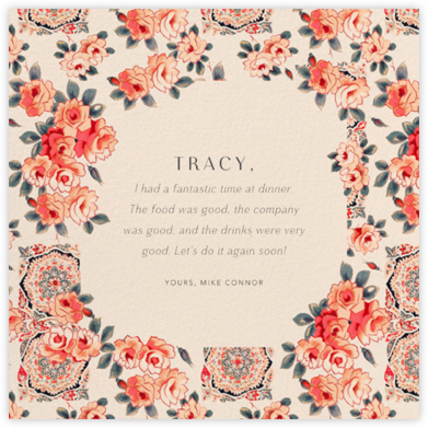 Rose Chintz - Anthropologie - Online Thank You Cards