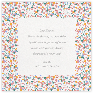Tender Buttons - White - Anthropologie - Online Thank You Cards