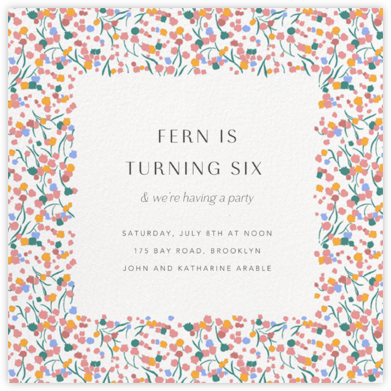 Tender Buttons - White - Anthropologie - Birthday invitations