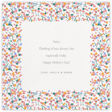 Tender Buttons - White - Anthropologie - Mother's Day Cards