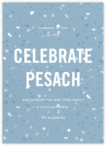 Terrazzo - Blue - Paperless Post - Passover cards