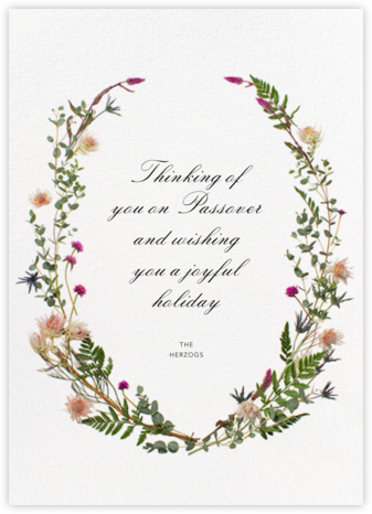 Fleurs Sauvages - Paperless Post - Passover cards
