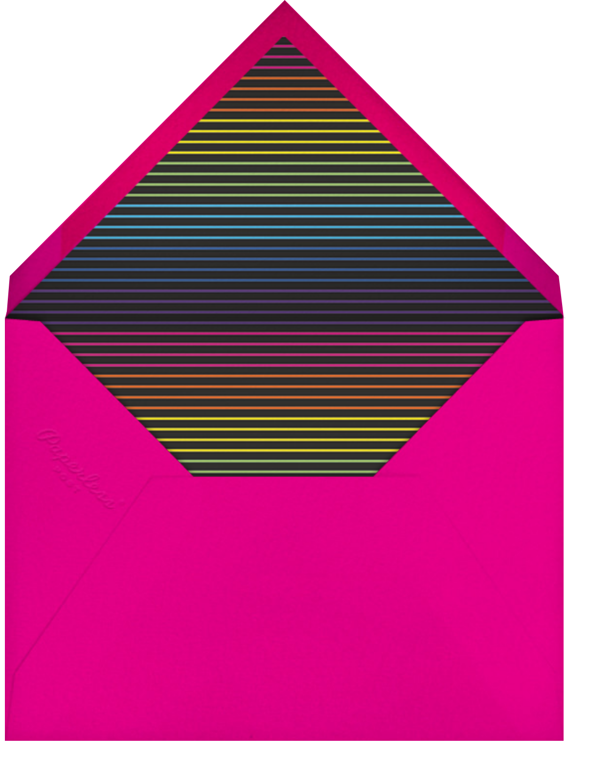 Neon Exclamation (Forty) - Paperless Post - Adult birthday - envelope back