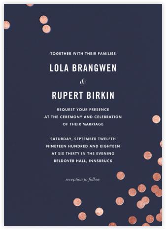 Confetti (Invitation) - Navy/Rose Gold - kate spade new york - Wedding Invitations