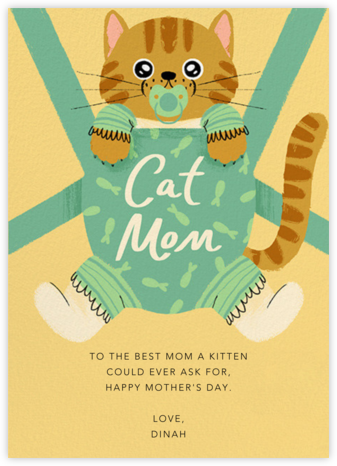 Furbaby Crazy (Cat) - Tabby - Paperless Post - Mother's Day Cards