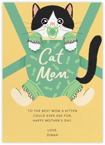 Furbaby Crazy (Cat) - Tuxedo - Paperless Post - Mother's Day Cards