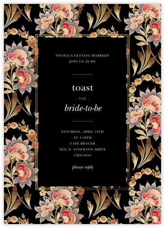 Flemish Tapestry - Oscar de la Renta - Bridal shower invitations