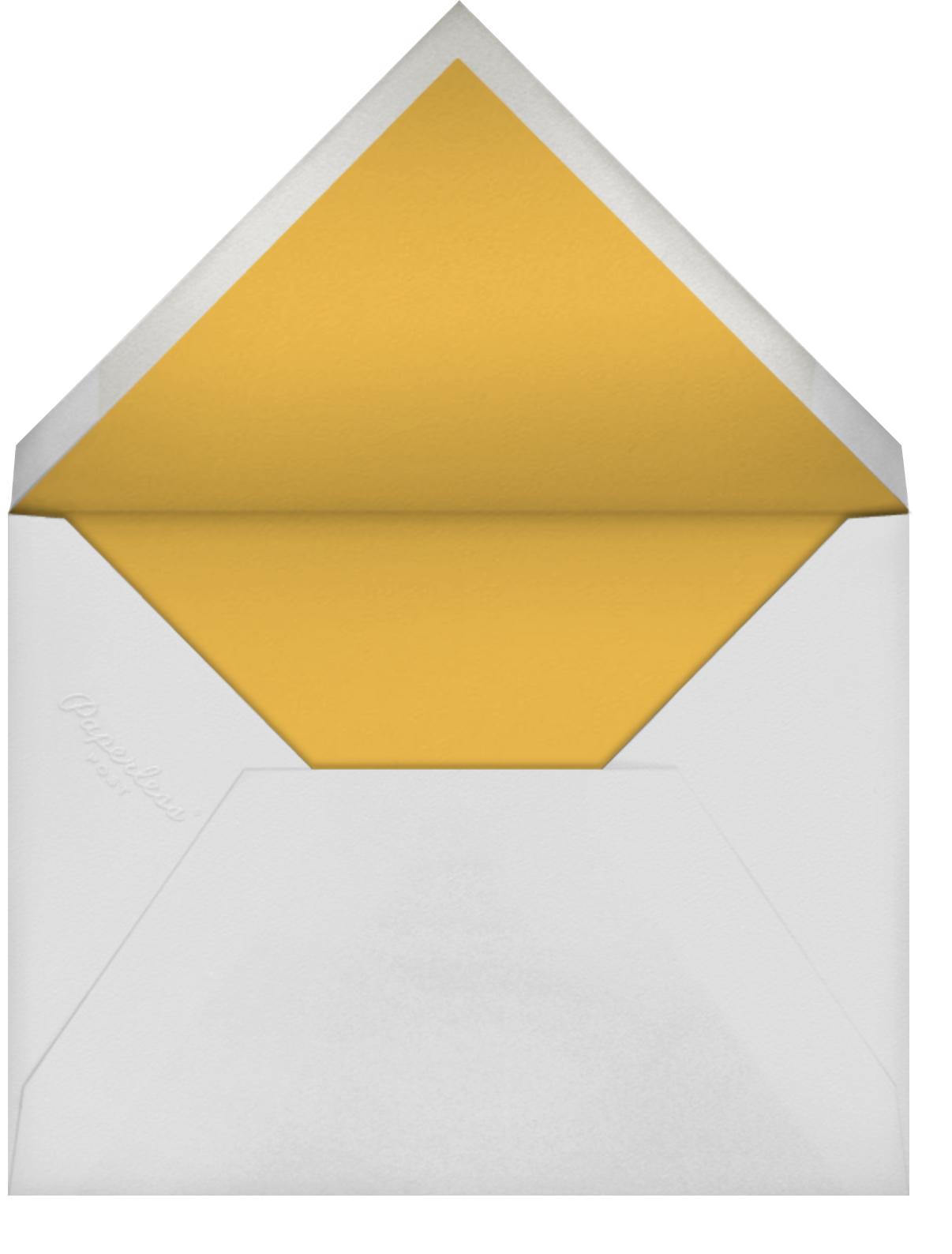 Pressed Greenery - Meringue - Oscar de la Renta - General entertaining - envelope back