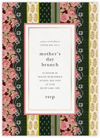 Patchwork Stripe - Oscar de la Renta - Mother's Day invitations