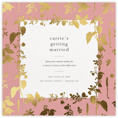 Stamped Greenery - Blossom - Oscar de la Renta - Bridal shower invitations