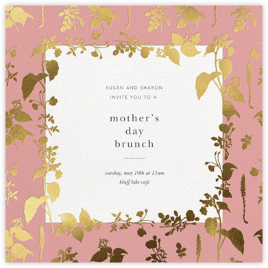 Stamped Greenery - Blossom - Oscar de la Renta - Online Mother's Day invitations