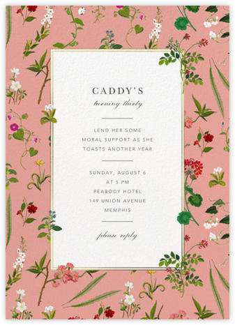 Wildflower Cuttings - Blossom - Oscar de la Renta - Adult Birthday Invitations