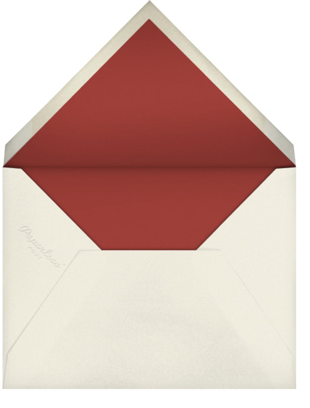 Wild Pansy - Oscar de la Renta - Bridal shower - envelope back