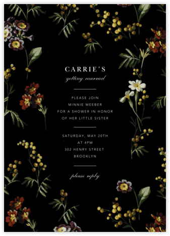 Wild Pansy - Oscar de la Renta - Bridal shower invitations