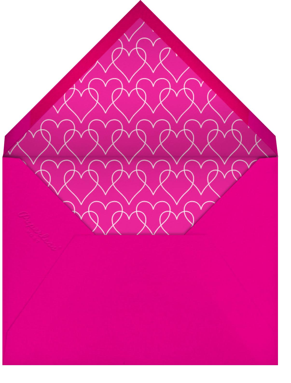 Full Bleed Heart (Single-Sided) - Paperless Post - Engagement party - envelope back