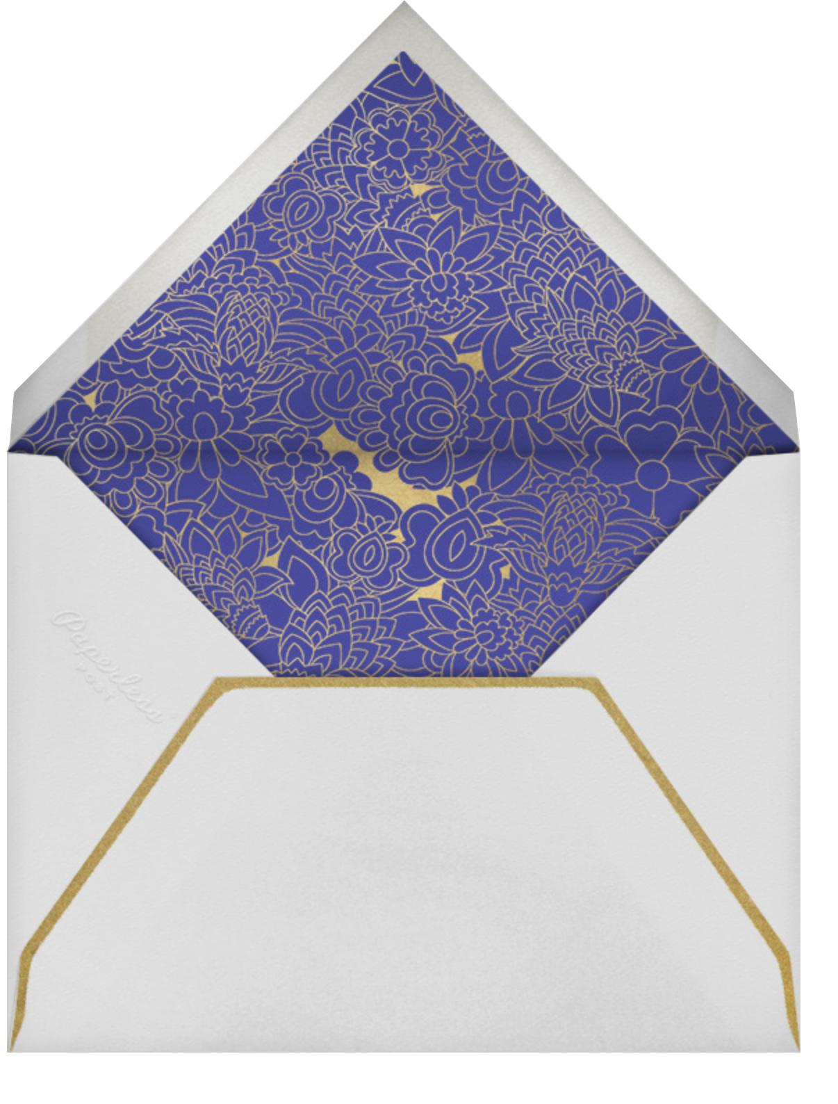 Sanganeri (Invitation) - Indigo - Paperless Post - Indian - envelope back