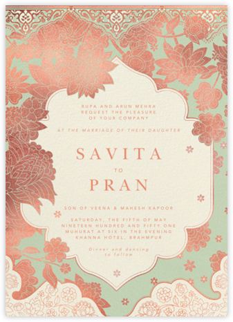 Sanganeri (Invitation) - Samphire - Paperless Post - Wedding Invitations