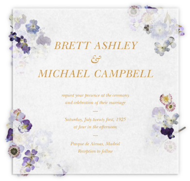 Pressed in Vellum (Invitation) - Paperless Post - Wedding Invitations