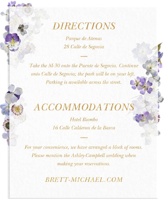 Pressed in Vellum (Invitation) - Paperless Post - All - insert front
