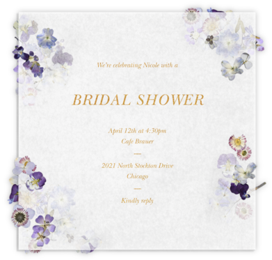 Pressed in Vellum - Paperless Post - Bridal shower invitations