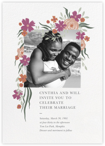 Spring Impasto (Invitation) - Paperless Post - Wedding invitations