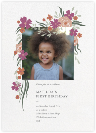 Spring Impasto  - Paperless Post - First Birthday Invitations