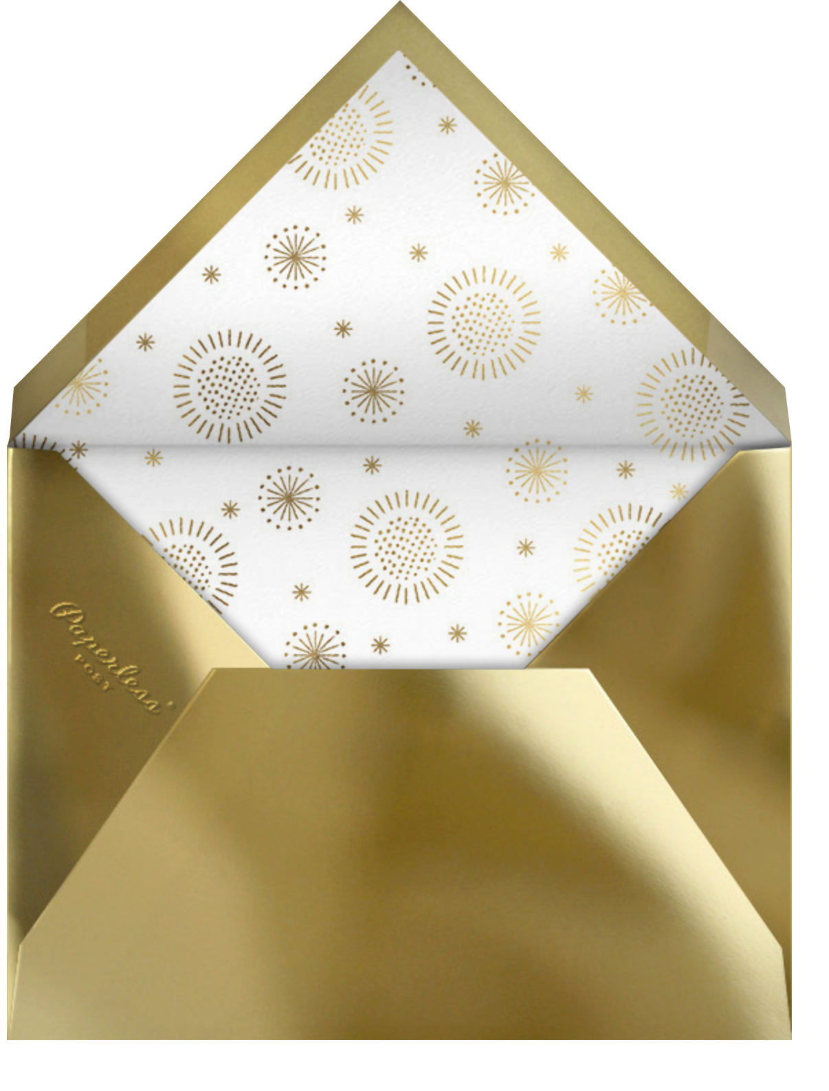May Belle (Invitation) - Gold - Paperless Post - All - envelope back