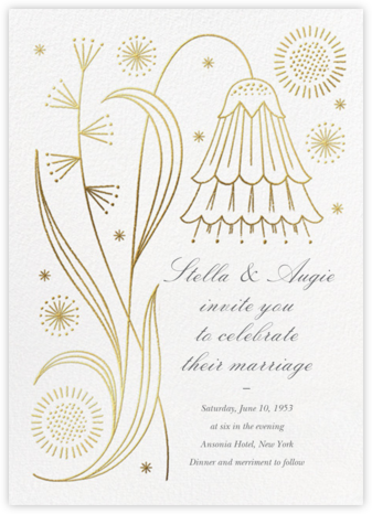 May Belle (Invitation) - Gold - Paperless Post - Wedding Invitations