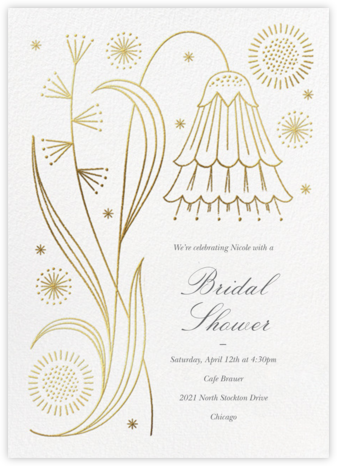 May Belle - Gold - Paperless Post - Bridal shower invitations