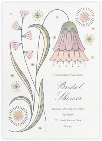 May Belle - Tea Rose - Paperless Post - Bridal shower invitations