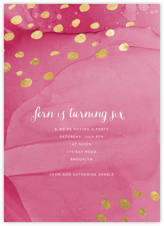 Bright Spots - Pink - Ashley G - Online Kids' Birthday Invitations