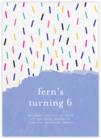 Confetti Cascade - Ashley G - Birthday invitations