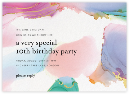 Gilded Rainbow - Ashley G - Birthday invitations